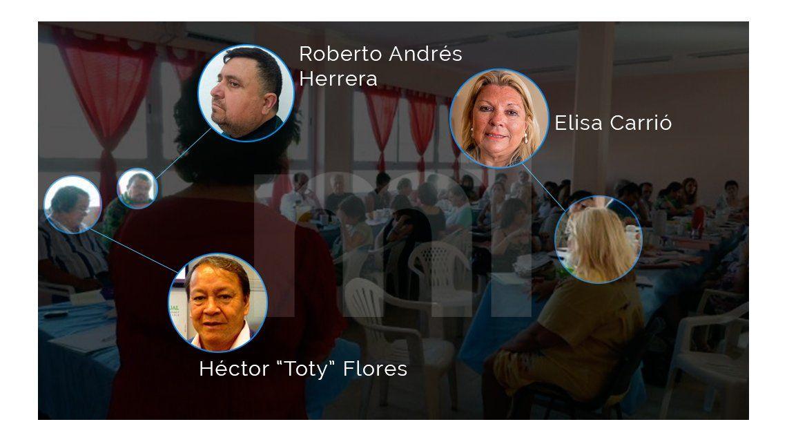 La fórmula Carrió-Toty Flores, en un seminario con el yerno detenido por narco