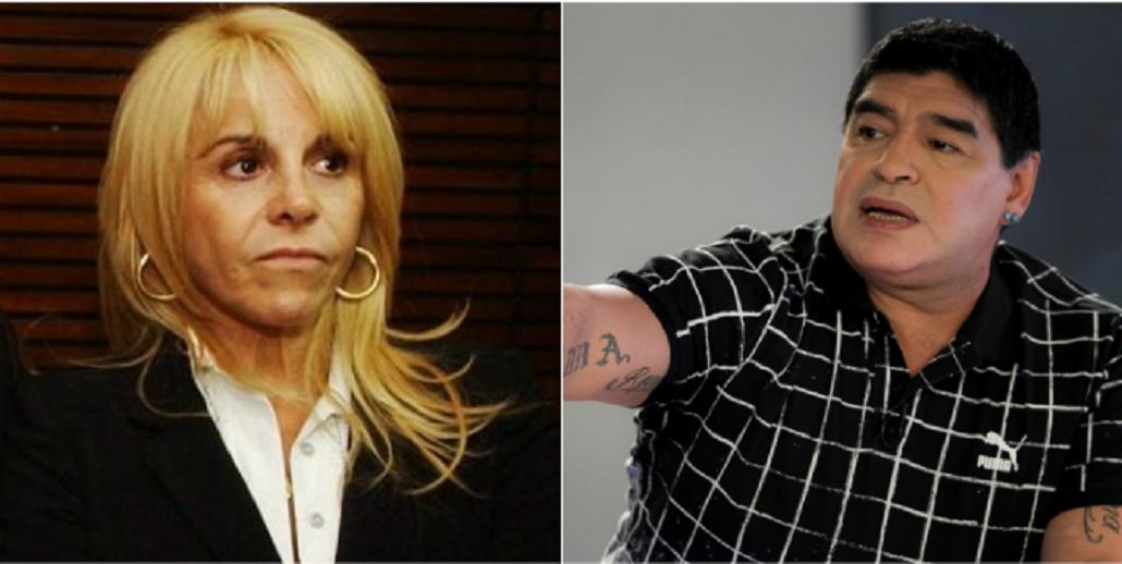 Claudia Villafañe no se presentó a declarar por la causa por defraudación que le inició Diego Maradona