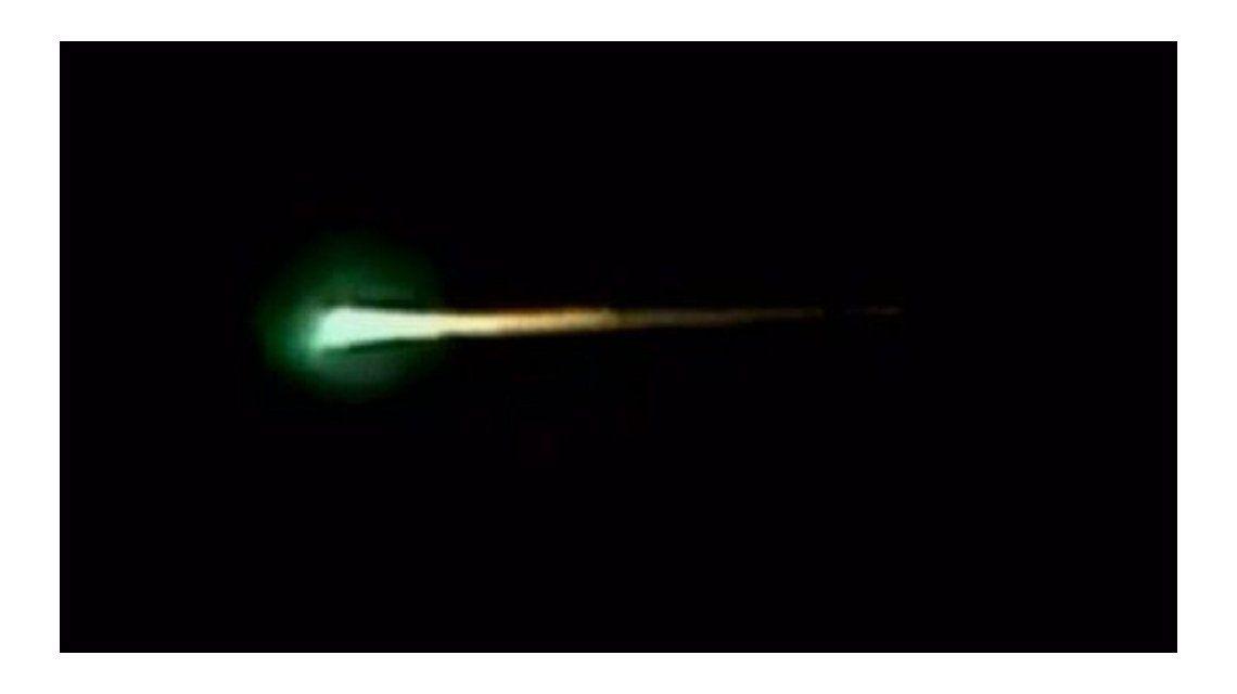 VIDEO: La misteriosa luz verde que se vio en el cielo argentino