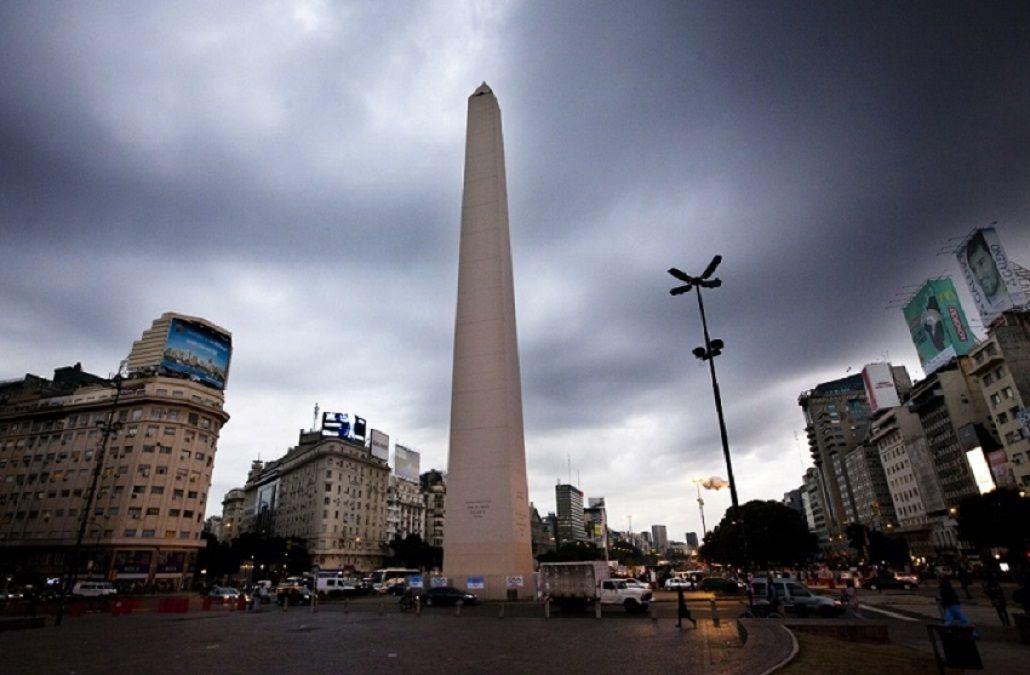 Cielo nublado en la Ciudad.