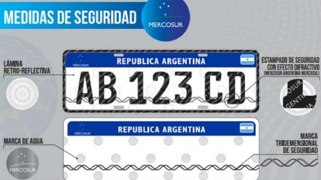 En abril inician la entrega de las nuevas patentes para vehículos del Mercosur