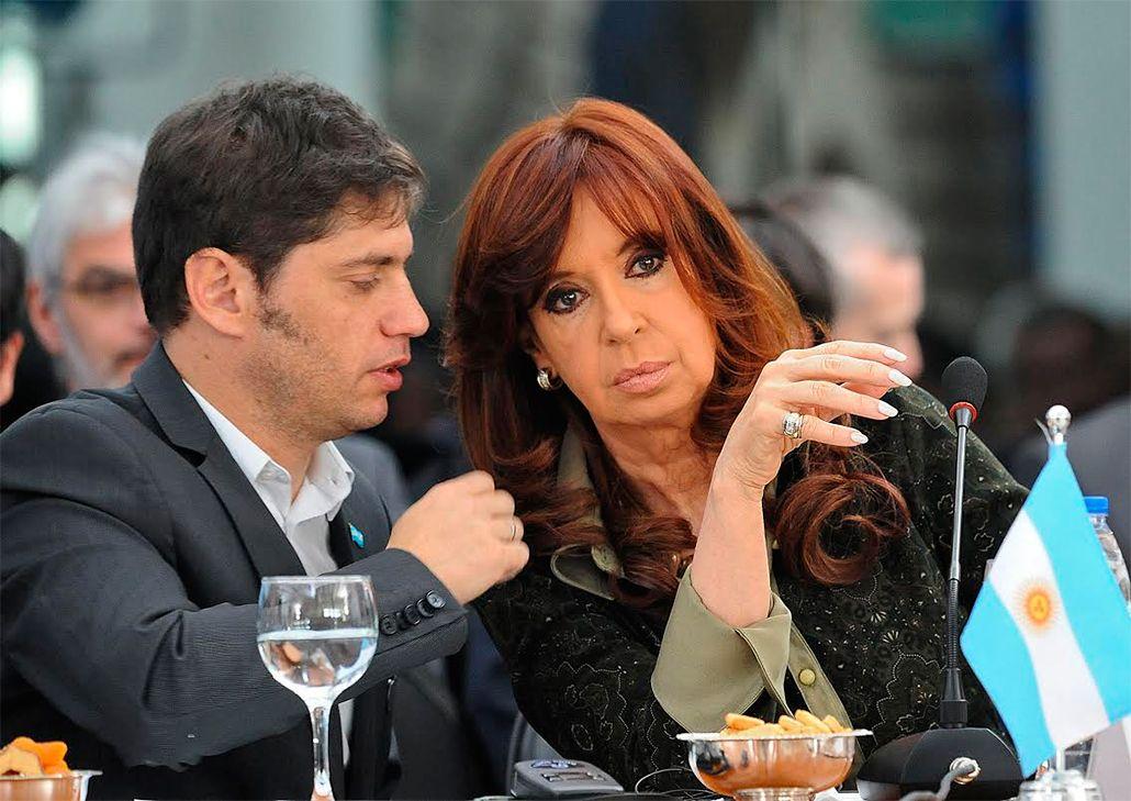 Axel Kicillof y Cristina Kirchner<br>