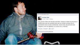 Muerte digna: el emotivo mensaje en Facebook de la familia del paciente