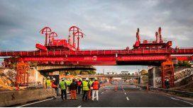 Demuelen el puente 25 de Mayo de Gral. Paz