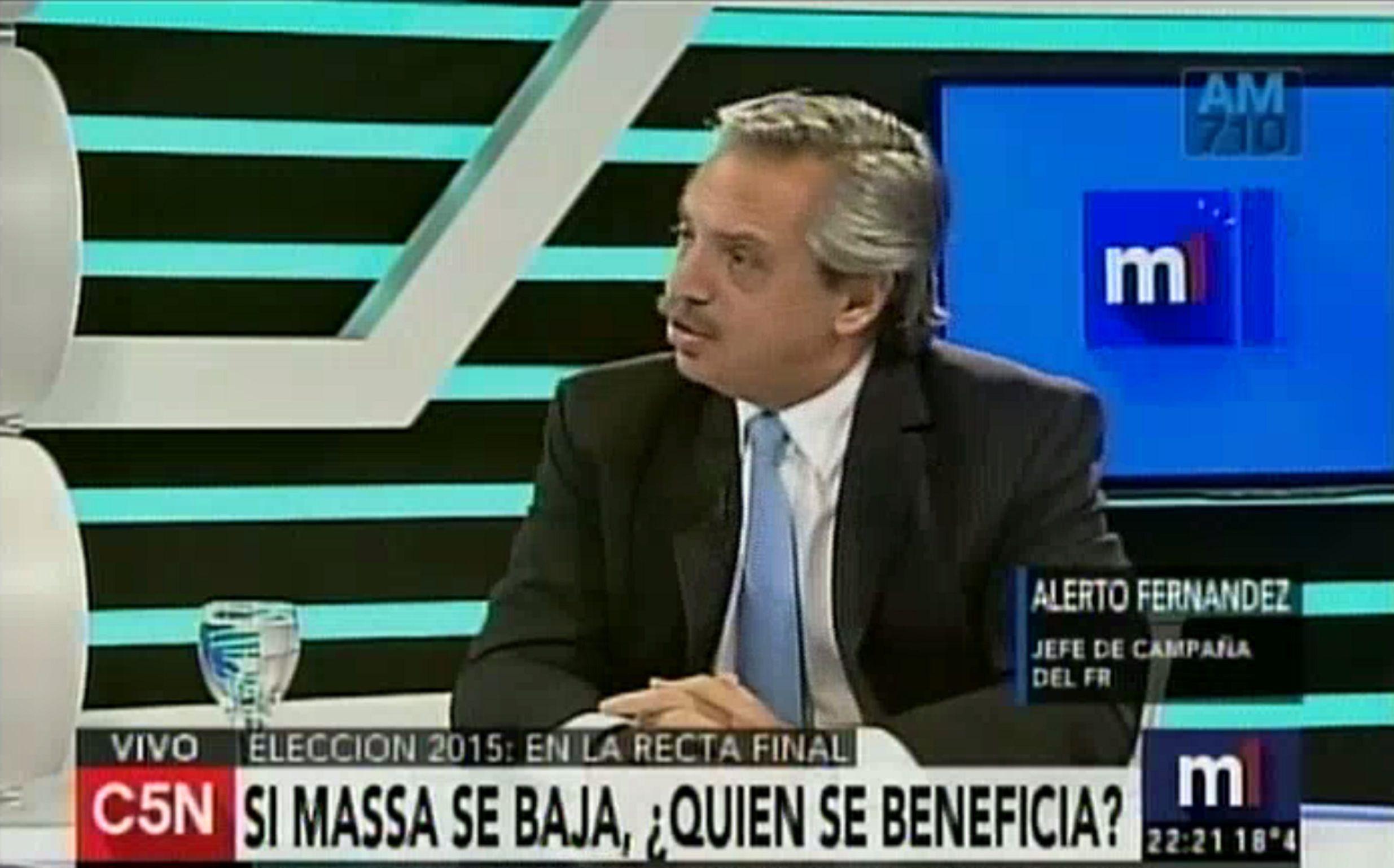 Alberto Fernández: Es indudable el deterioro en el voto de Sergio Massa