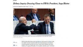 Ésta es la nota que puso en jaque a Joseph Blatter