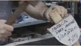Una ferretería vende estacas contra vampiros