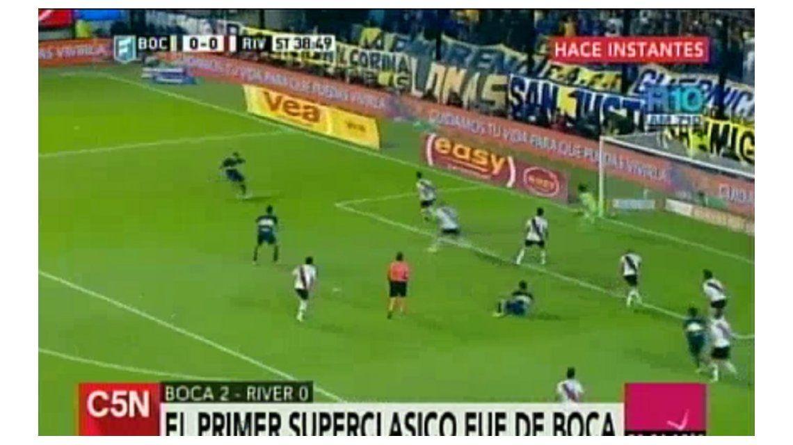 Mirá los goles de Boca en el primer Superclásico