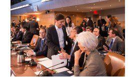 Kicillof comienza su participación en la reunión del FMI y el Banco Mundial