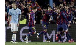 Barcelona eliminó al City y se metió en los cuartos de la Champions