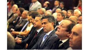 Los jueces Sebastián Casanello (izquierda), Sebastián Ramos, Daniel Rafecas, Rodolfo Canicoba Corral y Marcelo Martínez de Giorgi.
