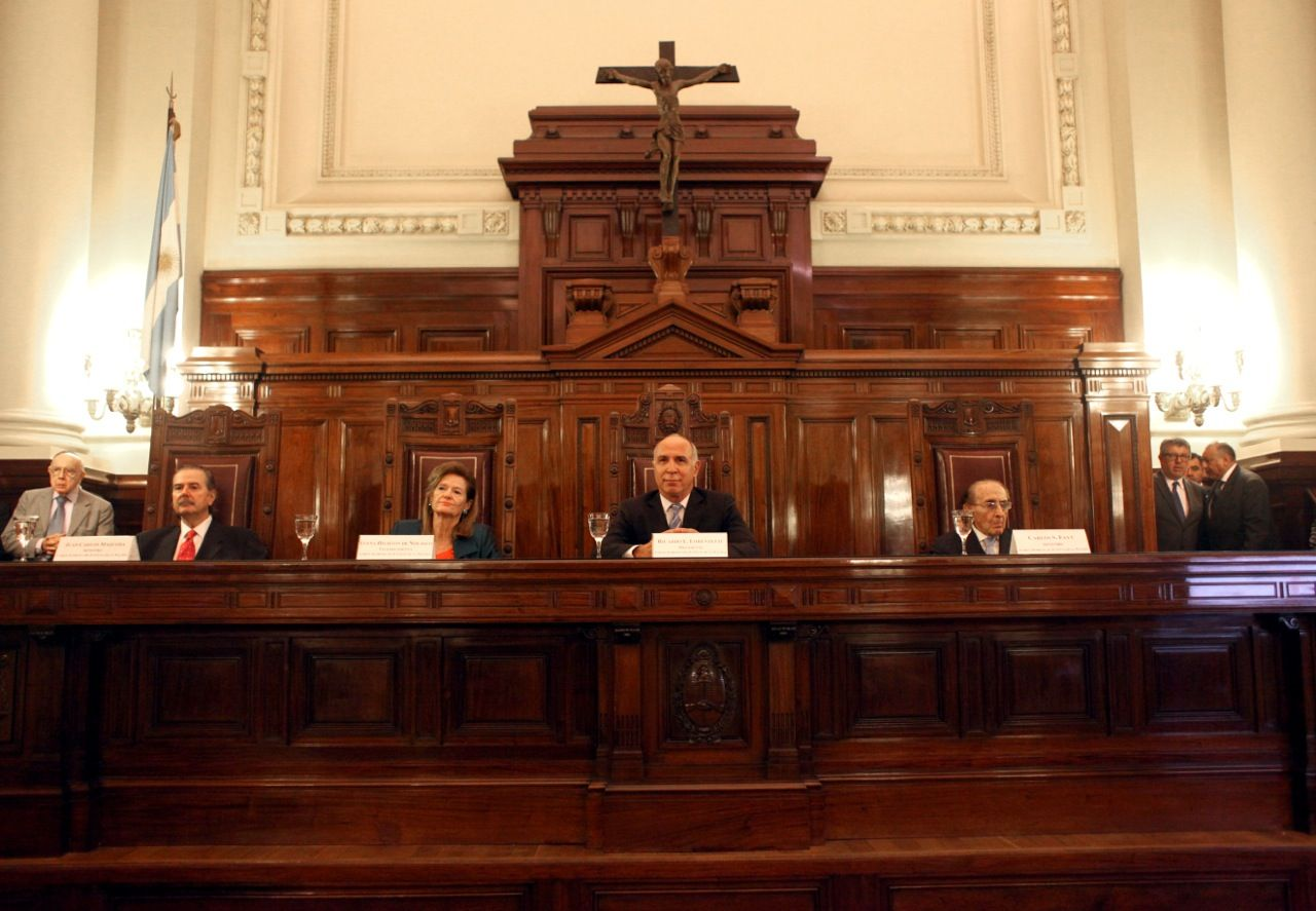 Los cuatro integrantes de la Corte Suprema de Justicia.