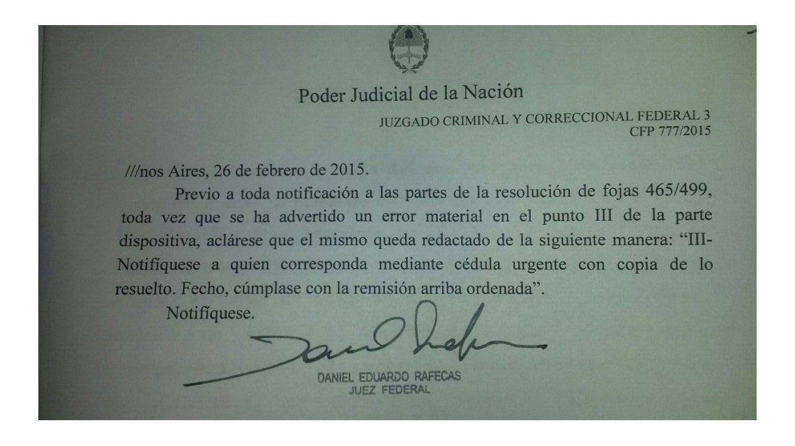 Rafecas explicó por qué quedó en su resolución una referencia a la feria judicial