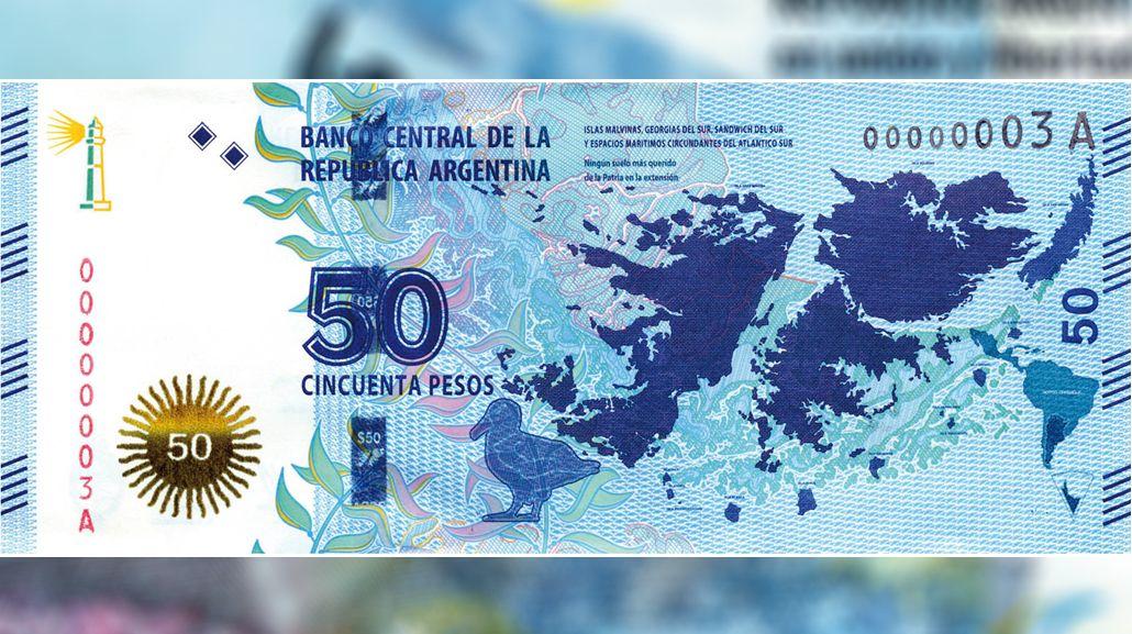 Conocé el nuevo billete de $50 con motivo de las Islas Malvinas