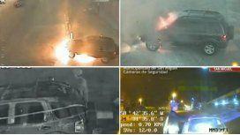 Se incendió el auto y ladrones lo saquearon