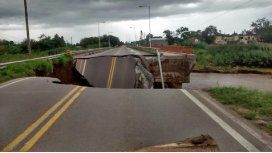Córdoba: ahora el temporal partió un puente