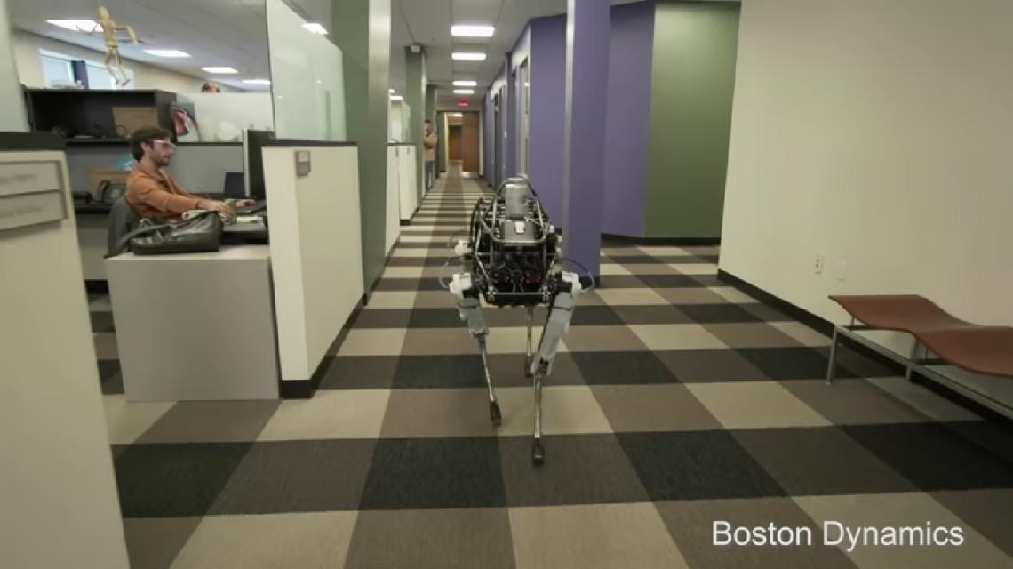 Mirá el perro robot de Google que puede moverse por cualquier superficie
