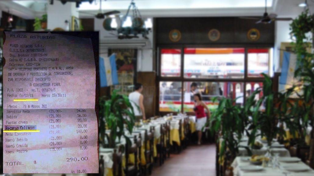 Denuncian que un restaurante porteño cobra un recargo para celíacos