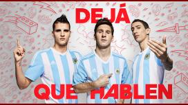 Messi, Di María y Lamela lucen la nueva camiseta de la Selección