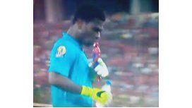 Mirá la extraña cábala del arquero de la selección de Ghana