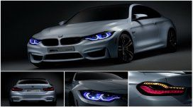 BMW presentó el M4 con luces láser y OLED
