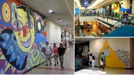 Artistas urbanos pintaron locales vacíos