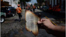 Las imágenes del incendio de Iron Mountain en Barracas
