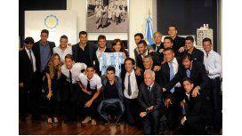 Cristina Kirchner recibió al plantel de Racing después de su consagración