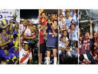 tras el titulo de racing, ¿como quedo la tabla de los equipos argentinos?