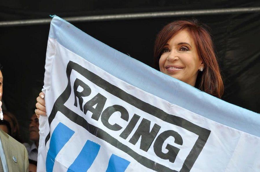 Cristina felicitó a los hinchas de Racing por el título