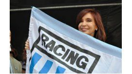 Cristina Kirchner felicitó a los hinchas