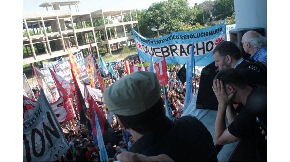 La detención de Esteche en la Facultad de Periodismo de La Plata