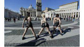 Una protesta feminista provocativa