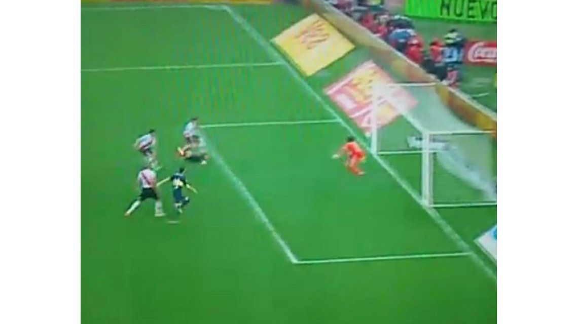 Mirá el gol de Magallán para el parcial triunfo de Boca ante River
