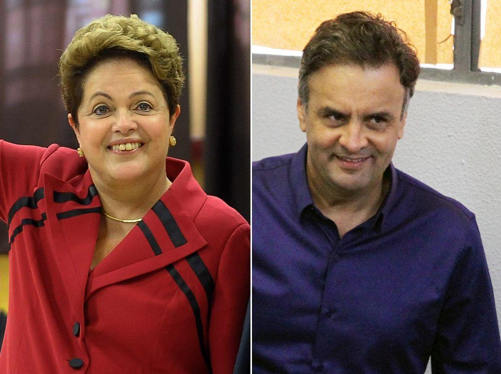 Mirá el tenso debate televisivo entre Roussef y Aécio Neves, que no se sacan ventajas