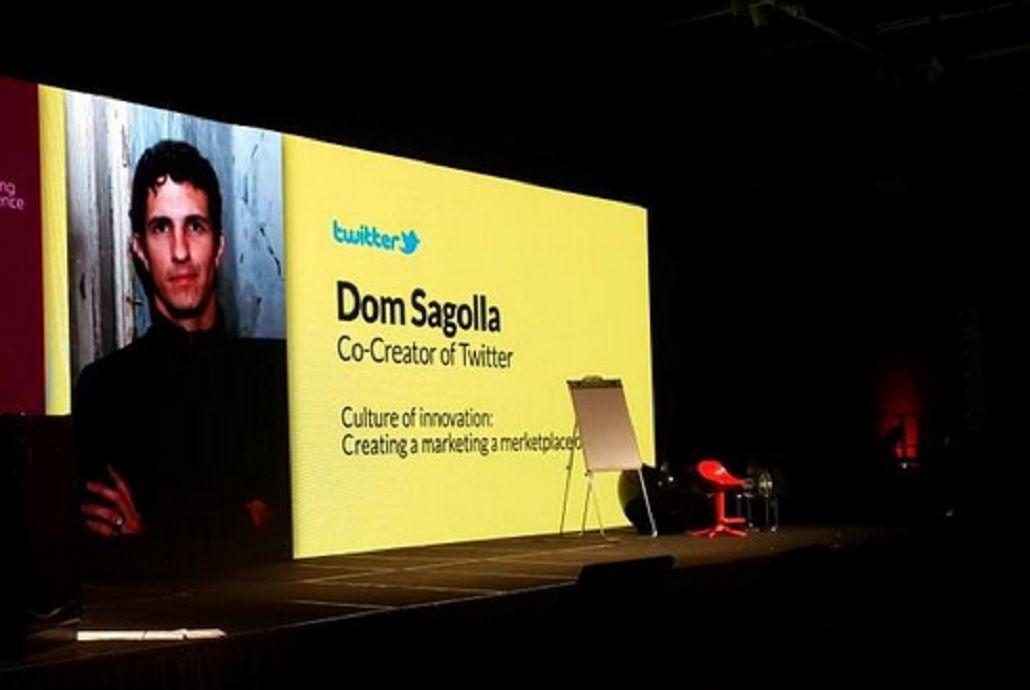 Así fue presentado Dom Sagolla este viernes en la DM Conference en el Hotel Hilton