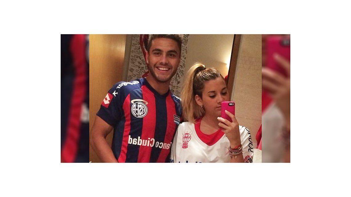 Mirá la foto contra la violencia de un jugador de San Lorenzo y la hija de un ídolo de Huracán
