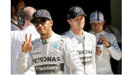Hamilton hizo la pole en su país y extendió suhegemonía
