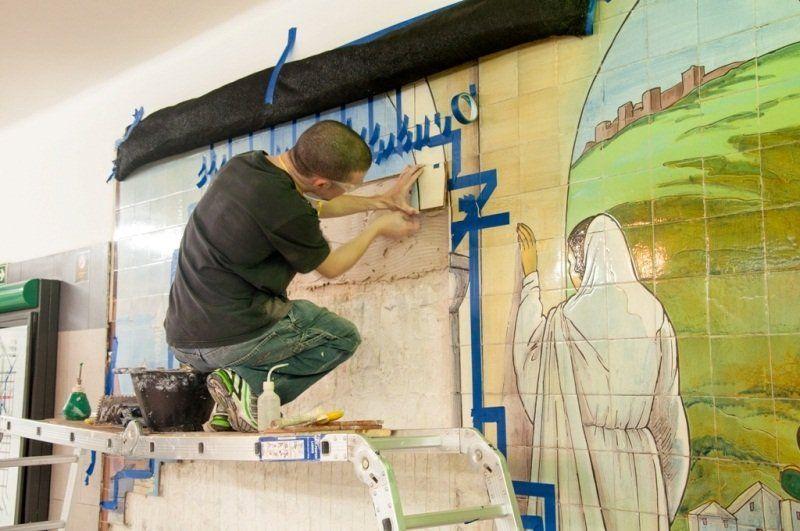 El subte recuperó murales patrimoniales en la Línea D