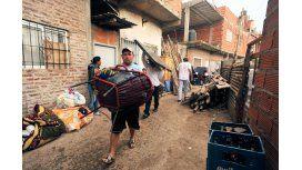 Al menos 90 personas acampan en el barrio Papa Francisco