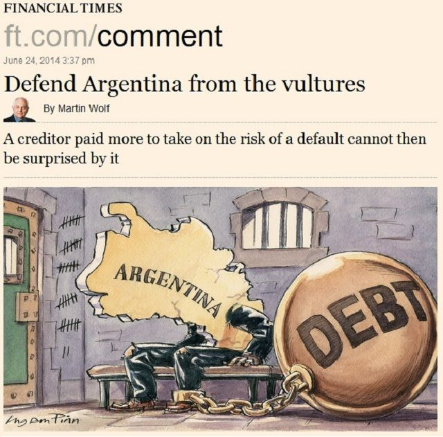 Fondos buitre: el diario Financial Times también calificó de extorsión el fallo de la Corte