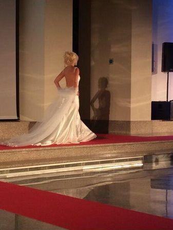 Wanda Nara se puso el vestido de novia: ¿practica para su futura boda con Icardi?
