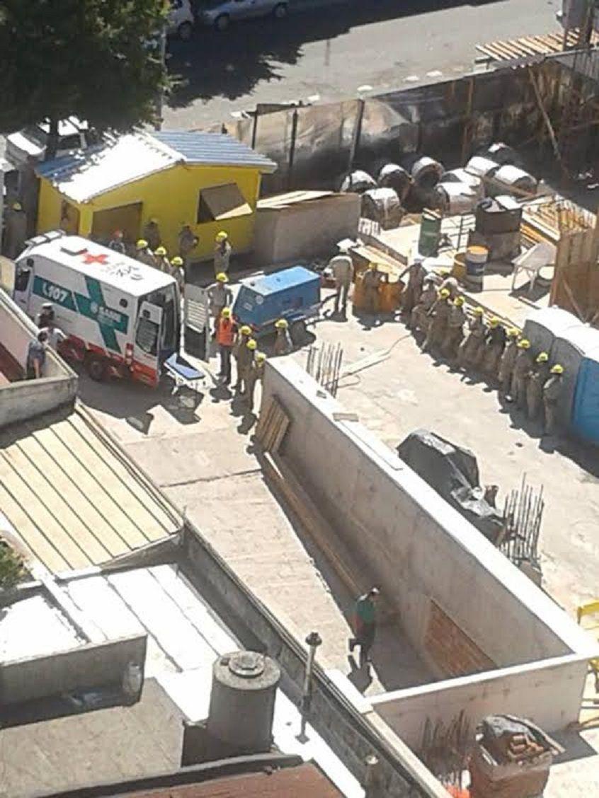 Parque Patricios: se derrumbó una obra en construcción y 5 personas resultaron heridas