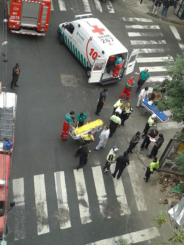 Derrumbe en una obra en Balvanera: un muerto y cuatro heridos