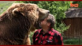 Un entrenador arriesgó su vida jugando con un oso