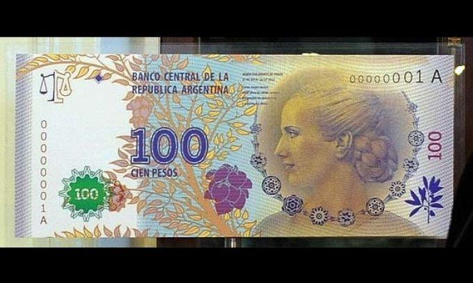 Cómo distinguir un billete falso de 100 pesos con la cara de Eva Perón