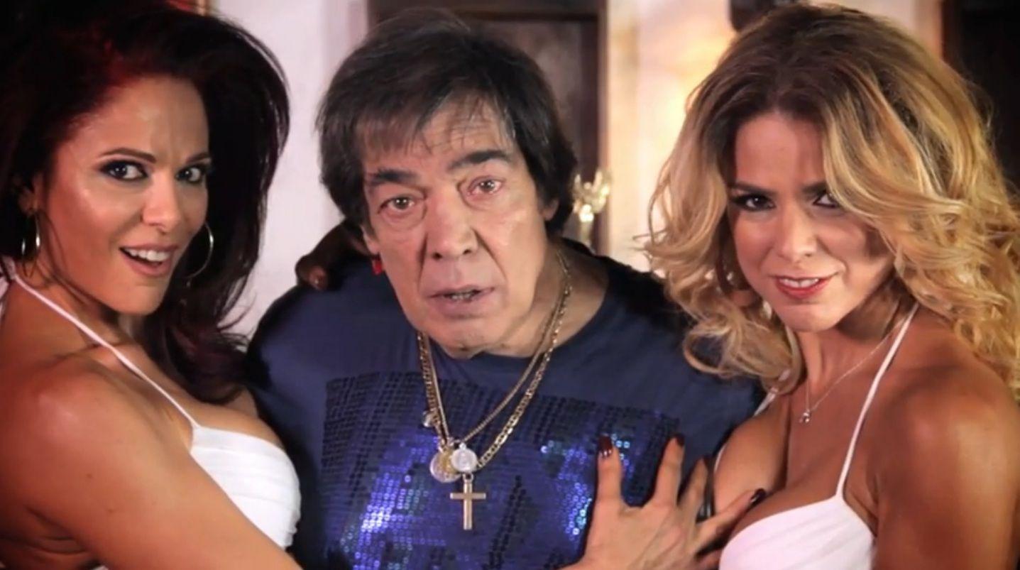 El sensual video de las hermanas Calabró junto a Cacho Castaña