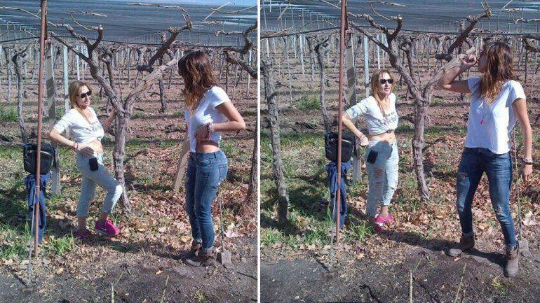 Silvina Luna enseñó cómo hacer un video hot en los viñedos
