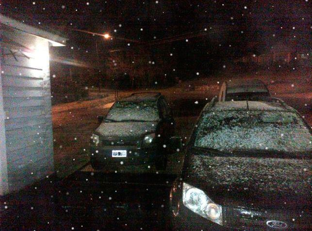 Las imágenes de la nieve en Mar del Plata y en otros lugares