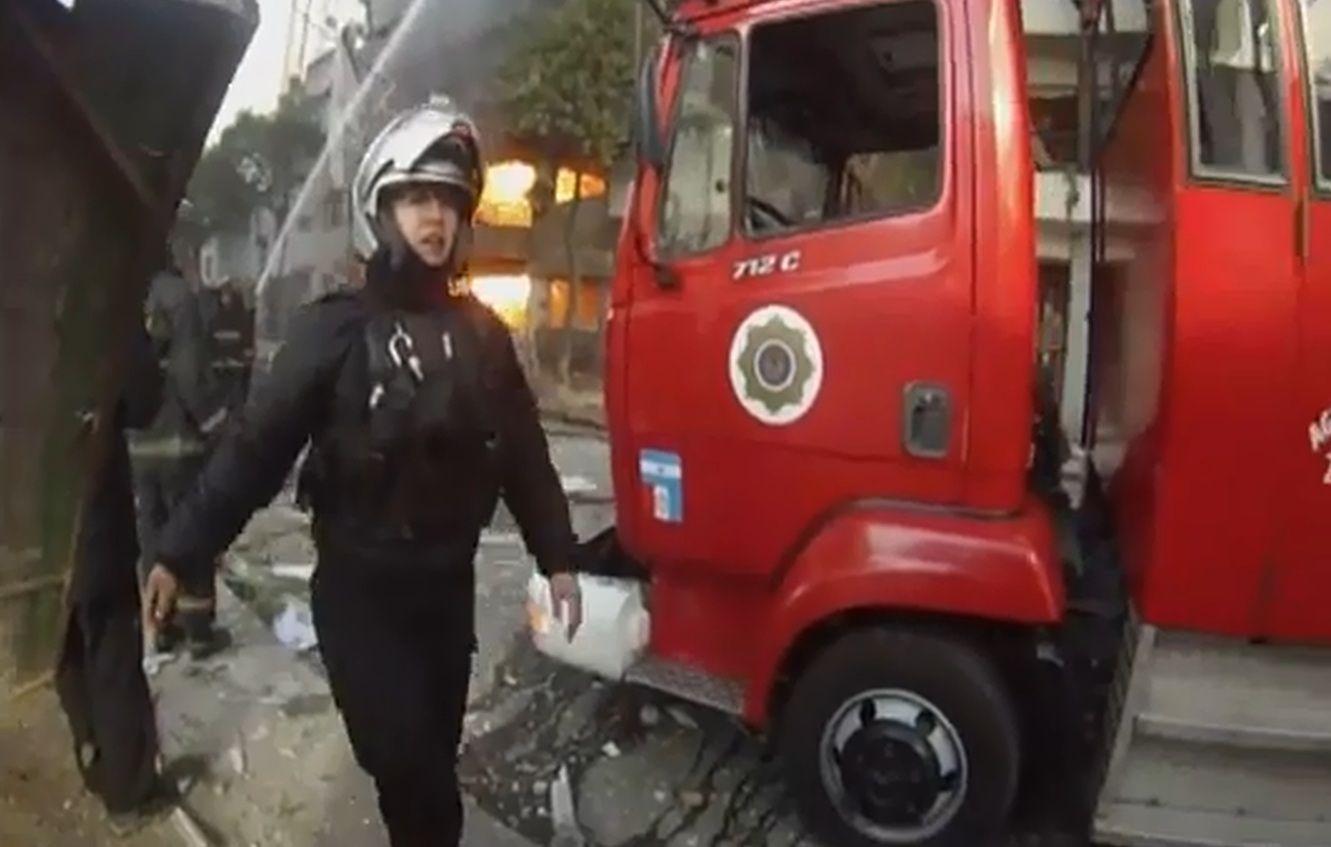 Las imágenes del caos y la destrucción en Rosario